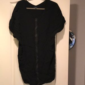 Madewell Black Leather Stripe Tunic
